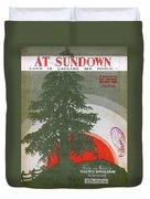 At Sundown Duvet Cover