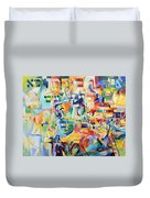 at the age of three years Avraham AVine recognized his Creator 5 Duvet Cover