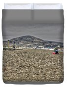 At The Beach At Pacifica Duvet Cover