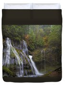 At The Bottom Of Panther Creek Falls Duvet Cover