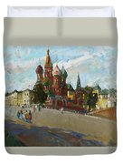 At The Cathedral Of Vasily The Blessed Duvet Cover