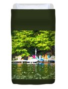 At The Cottage Dock Duvet Cover