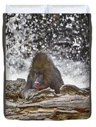 At The Edge Of The Waterfall Duvet Cover