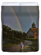 At The End Of A Rainbow Duvet Cover