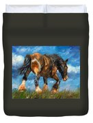 At The End Of The Day Duvet Cover by David Stribbling
