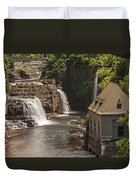 At The Falls In Ausable Ny Duvet Cover