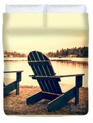 At The Lake Square Format Duvet Cover