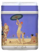 At The Lido Duvet Cover