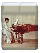 At The Piano Duvet Cover