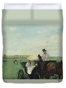 At The Races In The Countryside Duvet Cover
