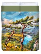 At The Top Of The Mountain Duvet Cover
