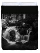 at the upper Bodefall, Harz Duvet Cover