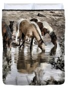 At The Watering Hole 1 Duvet Cover
