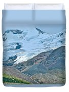 Athabasca Glacier Along Icefields Parkway In Alberta Duvet Cover
