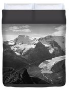 T-303504-bw-athabasca Glacier In 1957  Duvet Cover