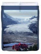 1m3734-athabasca Glacier W Original Icefields Chalet Duvet Cover