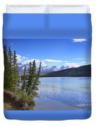 Athabasca River Scenery Duvet Cover