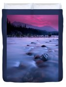 Athabasca Sunset Duvet Cover