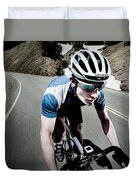 Athletic Male High Speed Cycling Duvet Cover