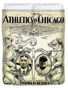 Athletics Vs Chicago 1929 World Series Duvet Cover