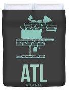 Atl Atlanta Airport Poster 2 Duvet Cover by Naxart Studio