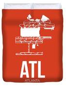 Atl Atlanta Airport Poster 3 Duvet Cover