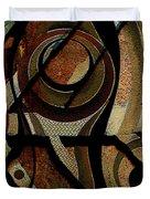 Atlanta Earth Abstract Art Duvet Cover