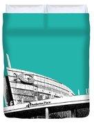 Atlanta Georgia Aquarium - Teal Green Duvet Cover