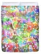 Atlanta Georgia Map 2 Duvet Cover
