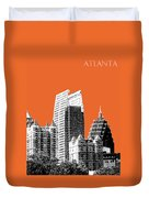 Atlanta Skyline 2 - Coral Duvet Cover
