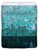 Atlanta Skyline Abstract 2 Duvet Cover