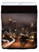 Atlanta Skyline At Dusk Duvet Cover