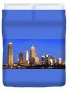 Atlanta Skyline At Dusk Midtown Color Panorama Duvet Cover