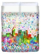 Atlanta Skyline Watercolor 3 Duvet Cover