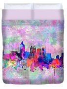 Atlanta Skyline Watercolor 4 Duvet Cover