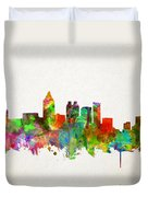 Atlanta Skyline Watercolor Duvet Cover
