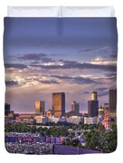 Atlanta Sunset Fulton County Stadium Braves Game  Duvet Cover