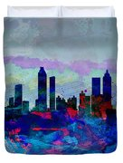 Atlanta Watercolor Skyline Duvet Cover