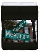 Atlantic And Meeting St Duvet Cover