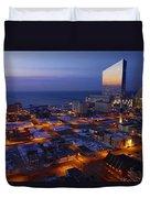 Atlantic City At Dawn Duvet Cover