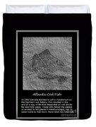Atlantic Cod Fish Sketch Duvet Cover