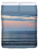 Atlantic Moon Rise Duvet Cover by Barbara McDevitt