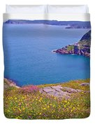 Atlantic Ocean From Signal Hill National Historic Site In Saint John's-nl Duvet Cover