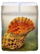 Atlantic Trumpet Triton Shell Duvet Cover