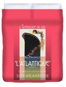 French Travel Poster Advertisement Atlantique Duvet Cover