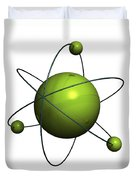 Atom Structure Duvet Cover by Johan Swanepoel
