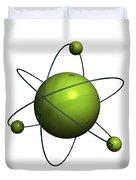 Atom Structure Duvet Cover
