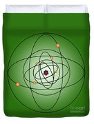 Atomic Structure Model Duvet Cover by Science Source