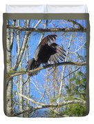 Attack Of The Turkey Vulture Duvet Cover