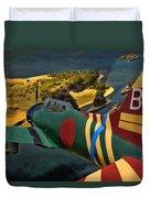 Attack On Battleship Row Duvet Cover